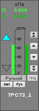 Окно управления импульсным регулятором (12Кб)
