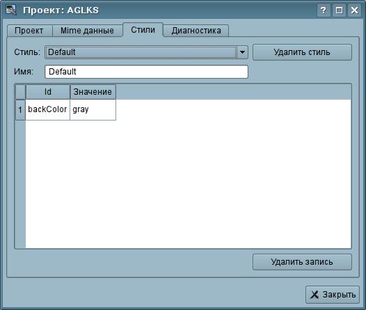 """Вкладка """"Стили"""" страницы конфигурации проекта. (19Кб)"""