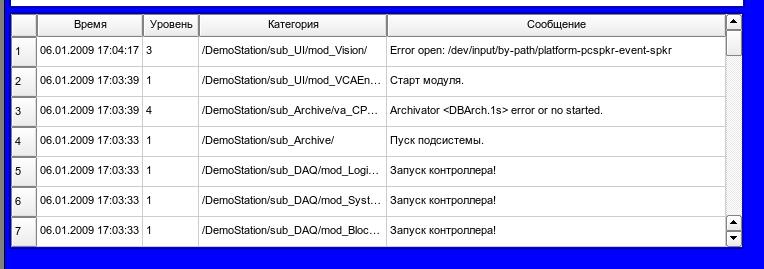 Реализация базового элемента отображения протоколов в Vision. (37Кб)