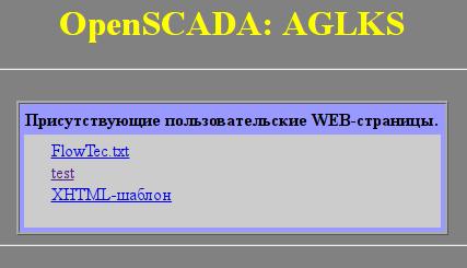 Индекс пользовательских страниц. (13Кб)