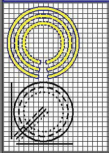 Часть экрана с кадром, содержащим элементарные фигуры. (7Кб)