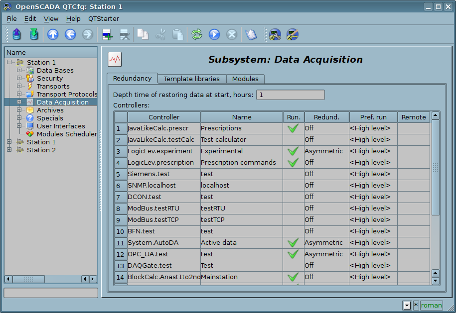 "The ""Redundance"" tab of the ""Data Acquisition"" subsystem. (116 Kb)"