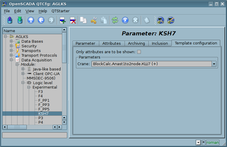 Configuration tab of the template of parameter. (66 Кб)