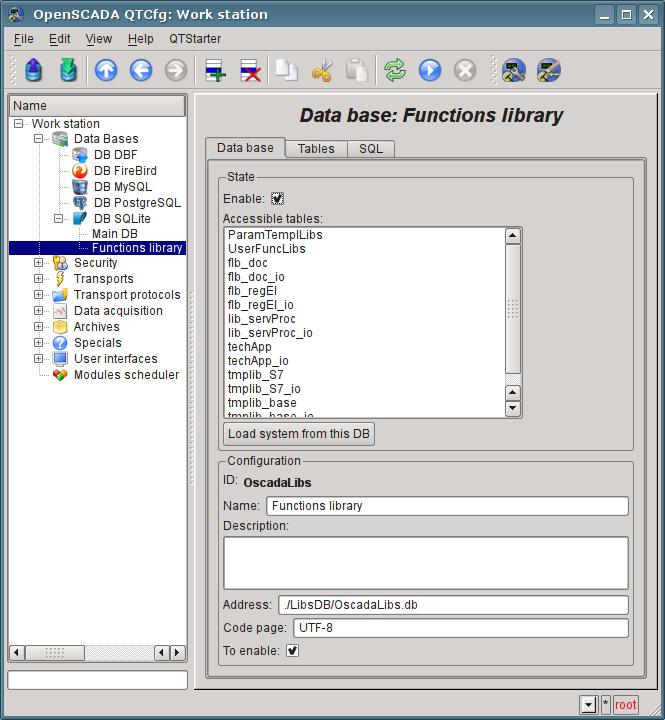 "Object DB ""SQLite"" of library OpenSCADA. (96Кб)"