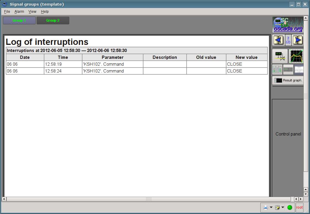 The operator interruptions protocol. (70Кб)