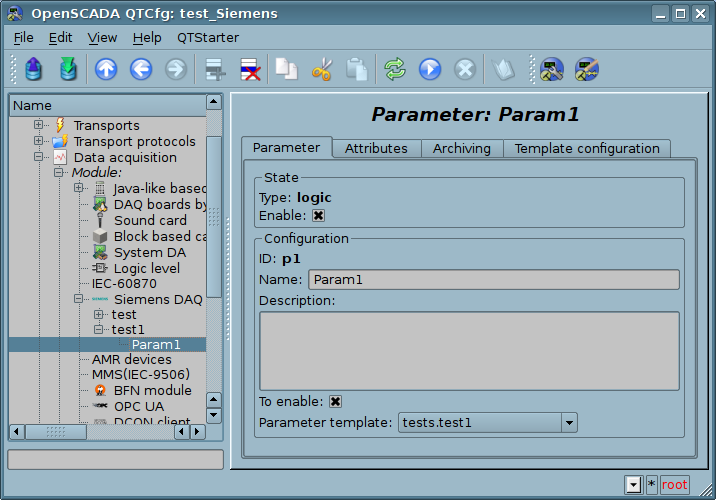 Configuration tab of the parameter. (73 Кб)