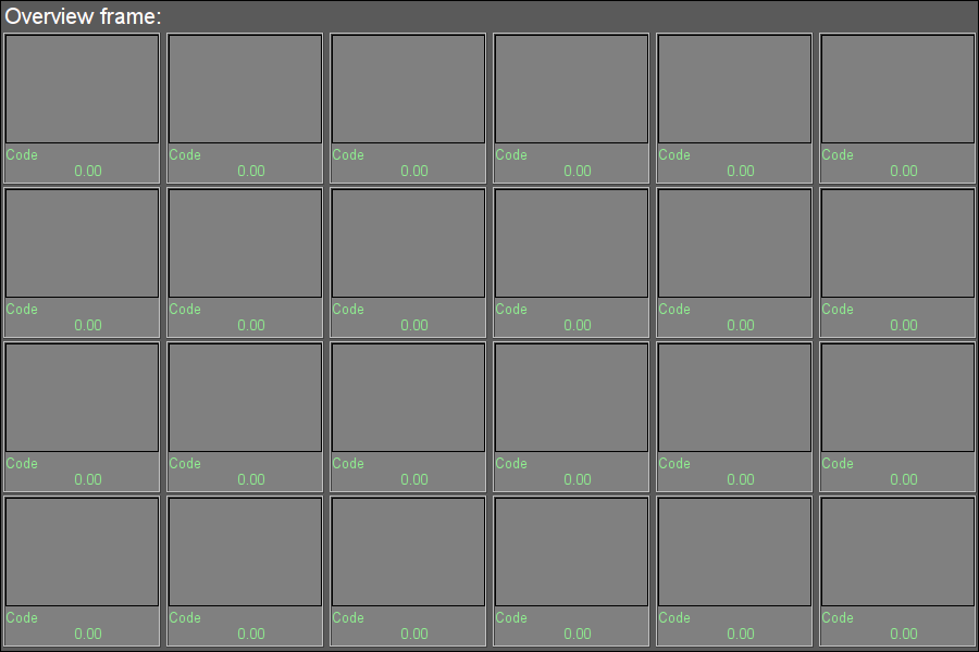 """Overview frames panel"" widget in the development mode (12Кб)"