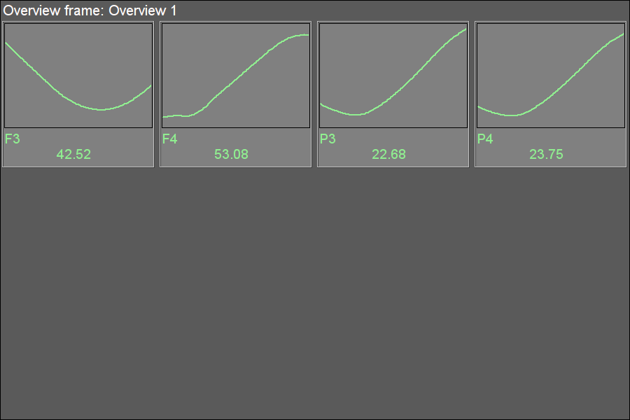 """Overview frames panel"" widget in the runtime mode. (12 Кб)"