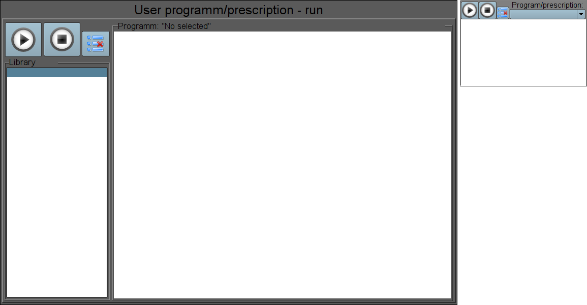 "The full-format and simplified ""Prescription: runtime"" frames in the development mode. (28 Кб)"