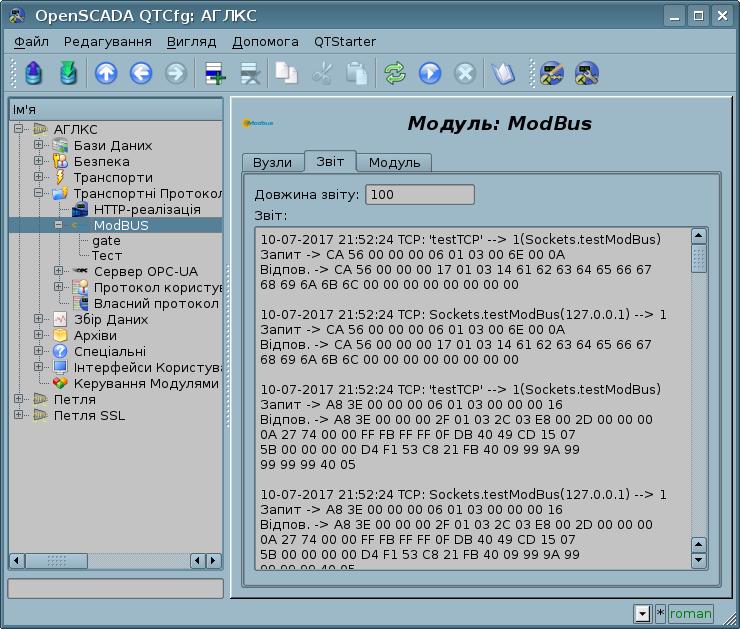 """Вкладка """"Звіт"""" сторінки модуля протоколу. (100Кб)"""