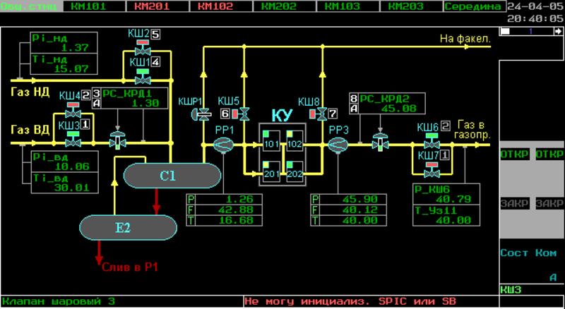Экран SCADA Complex2 (92Кб)