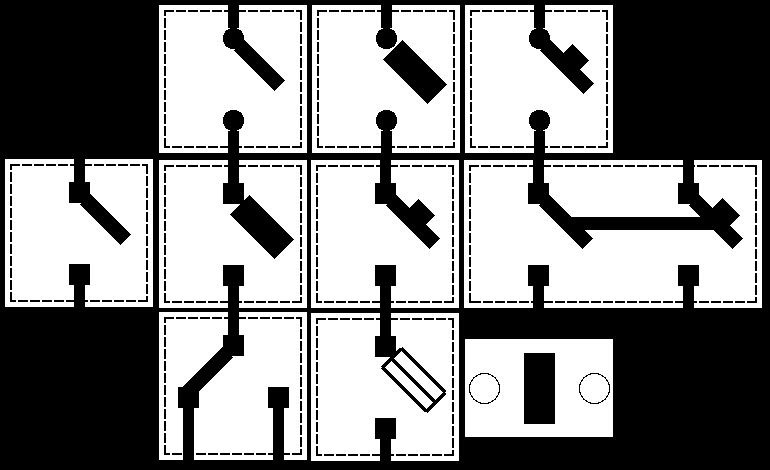 Выключатели в выключенном положении (7Кб)